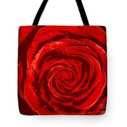 Beautiful Abstract Red Rose Illustration Tote Bag