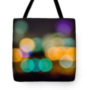 Beautiful Background On Dark Out Of Focus Lights During The Nig Tote Bag