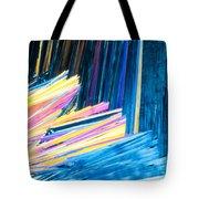 Beautiful Benzoic Acid  Microcrystals Abstract Art Tote Bag