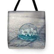 Beautiful Blue Bubble Tote Bag