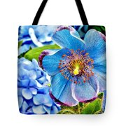 Beautiful Blue Orchid Tote Bag