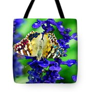 Beautiful Butterfly On A Flower Tote Bag