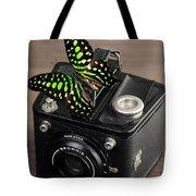 Beautiful Butterfly On A Kodak Brownie Camera Tote Bag
