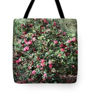 Beautiful Camellia Bush Tote Bag