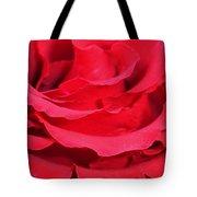 Beautiful Close Up Of Red Rose Petals  Tote Bag