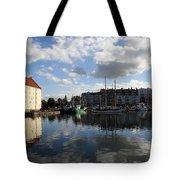 Beautiful Clouds Over Motlawa River - Gdansk Tote Bag