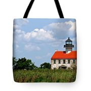 Beautiful Day At East Point Lighthouse  Tote Bag