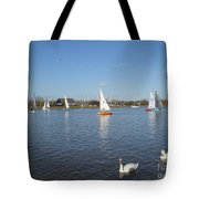 Beautiful Day By The River Tote Bag