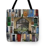 Beautiful Doors In London France And Belgium Tote Bag by Cathy Jacobs
