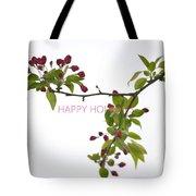 Beautiful Floral Greetings Tote Bag