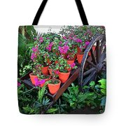 Beautiful Flower Wagon Tote Bag