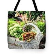 Beautiful Flowers In Basket Tote Bag
