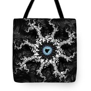 Beautiful Fractal Artwork Black White And Blue Tote Bag