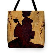 Beautiful Geisha Coffee Painting Tote Bag
