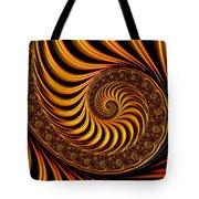 Beautiful Golden Fractal Spiral Artwork  Tote Bag by Matthias Hauser