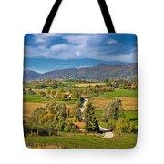 Beautiful Green Scenery Of Prigorje Region Tote Bag