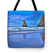 Beautiful Haystack Rock And The Needles Tote Bag