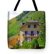 Beautiful House In Mont Blanc Tote Bag