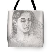 Beautiful Indian Woman Tote Bag