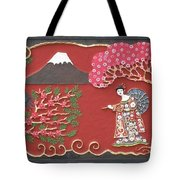 Beautiful Japan Tote Bag by Otil Rotcod