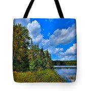 Beautiful Lake Abanakee - Indian Lake New York Tote Bag by David Patterson
