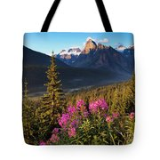 Rocky Mountains Sunset Tote Bag