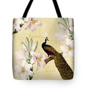Beautiful Lilies Peacock Tote Bag