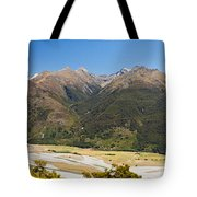 Beautiful Makarora Valley On South Island Of Nz Tote Bag