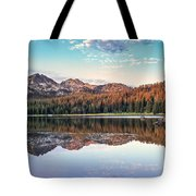 Beautiful Mountain Reflection Tote Bag by Robert Bales