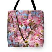 Beautiful Pink Dogwood Tree Flowers Tote Bag