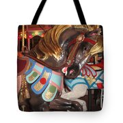 Beautiful Pony On The Happiness Machine Tote Bag
