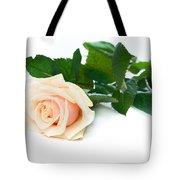 Beautiful Rose On White Tote Bag