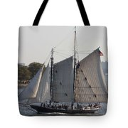 Beautiful Sailboat In Manhattan Harbor Tote Bag