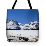Beautiful Sawtooth Mountains Tote Bag