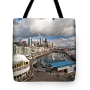Beautiful Seattle Sky Tote Bag by Mike Reid