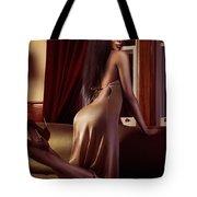 Beautiful Sexy Black Woman Near A Window Tote Bag
