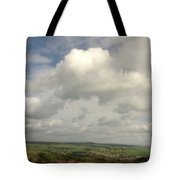 White Clouds Over Yorkshire Dales Tote Bag