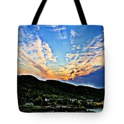 Beautiful Sky Over The Harbour Digital Painting Tote Bag