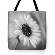 Beautiful Sunflower In Monocrome Tote Bag