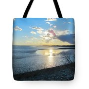 Beautiful Sunset Iowa River Tote Bag