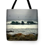 Beautiful Waves On The Monterey Peninsula Tote Bag