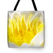Beautiful White And Yellow Flower - Digital Artwork Tote Bag
