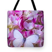 Beautiful White Butterfly Tote Bag
