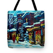 Beautiful Winter Evening Tote Bag