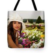 Beautiful Young Woman In Paris Tote Bag