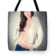 Beautiful Young Woman Tote Bag