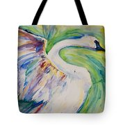 Beauty And Grace Swan Tote Bag