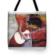 Beauty And Her Guitar Tote Bag