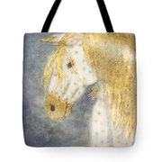 Beauty And Strength  Golden Appaloosa Tote Bag