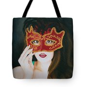 Beauty And The Mask Tote Bag